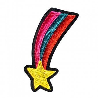 Badge Rainbow Star - Free Sewing Service [4149]