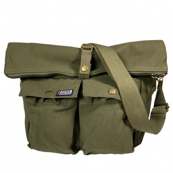 Canvas Shoulder Bag -Army Green [4036]
