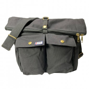 Canvas Shoulder Bag -Black [4036]