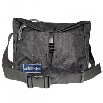 Buckle Sling Bag -Black [4037]