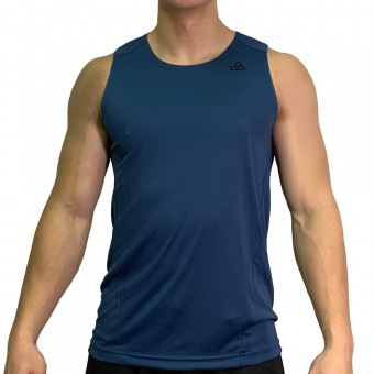 beFIT Sweat Body Fit Active Singlet Navy [3953]