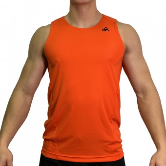 beFIT Sweat Body Fit Active Singlet Orange [3953]