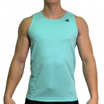 beFIT Sweat Body Fit Active Singlet Turquoise [3953]