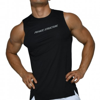 beFIT Sweat Casual Fit Muscle Tank - Black [4061]