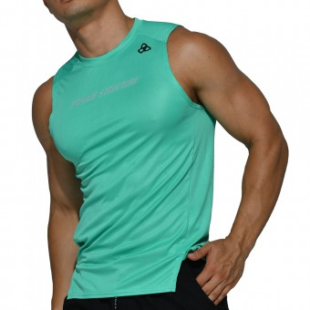 beFIT Sweat Casual Fit Muscle Tank - Green [4061]