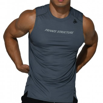 beFIT Sweat Casual Fit Muscle Tank - Grey [4061]