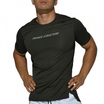 beFIT Sweat Casual Fit Crew Neck Tee - Army Green [4062]