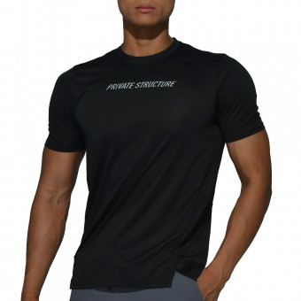 beFIT Sweat Casual Fit Crew Neck Tee - Black [4062]
