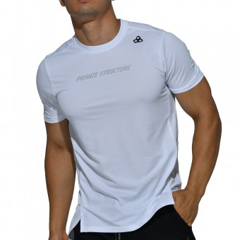 beFIT Sweat Casual Fit Crew Neck Tee - White [4062]
