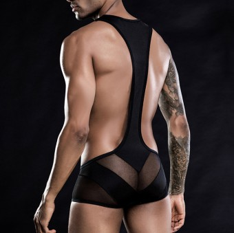 Desire Intima Bodysuit Trunk - Black [4099]