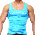 Fitted Singlet - Blue [3245]