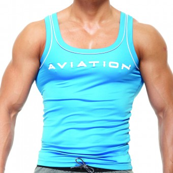 Fitted Singlet - Blue