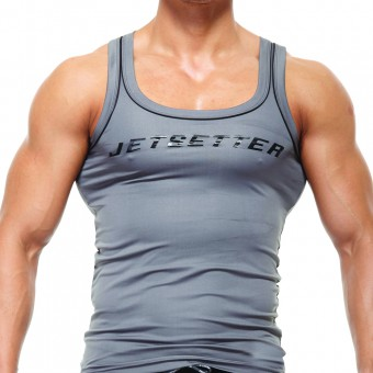 Fitted Singlet - Grey