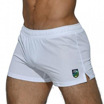 Lounge Shorts With Inner Bulge - White [4016]