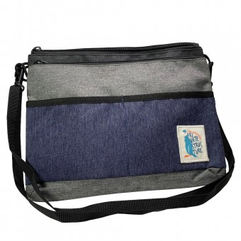 Dou Sling Bag -Grey/Blue [4008]
